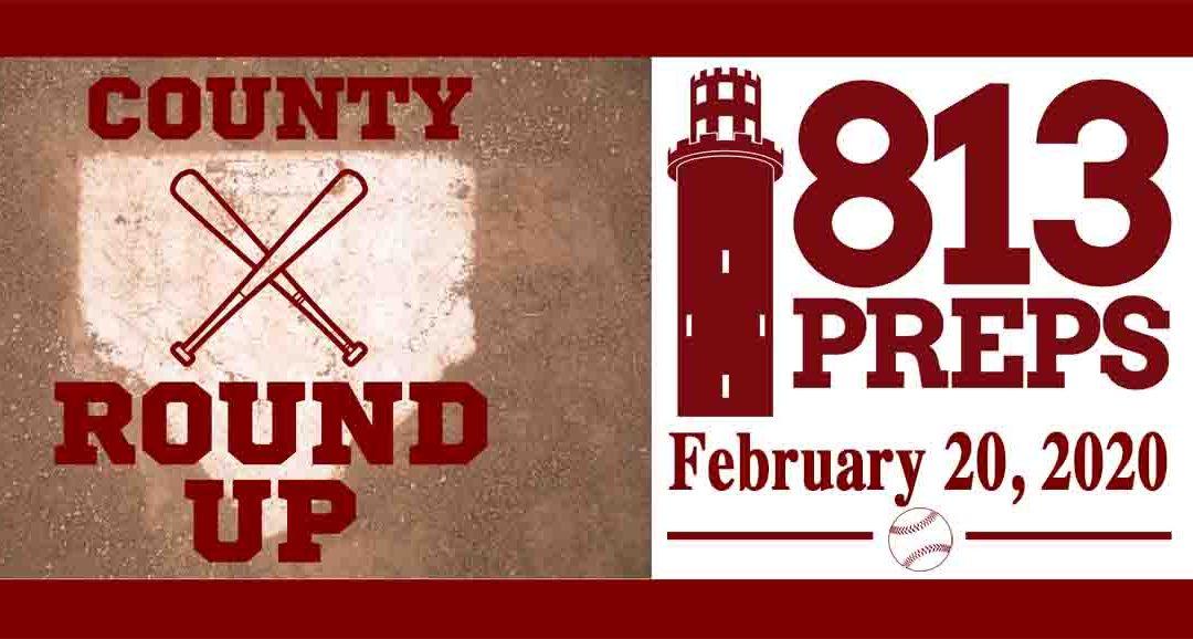 813Preps Baseball Round-Up for 2/20/20