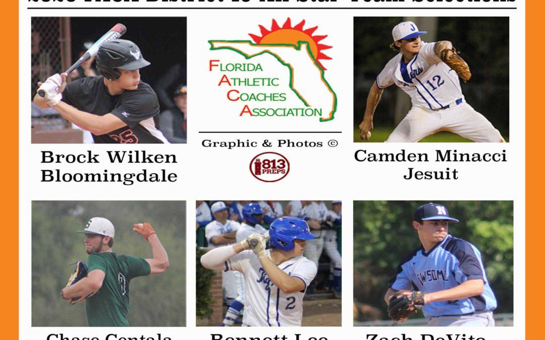 Wilken, Minacci, Centala, Lee, DeVito head area FACA 2020 honorees