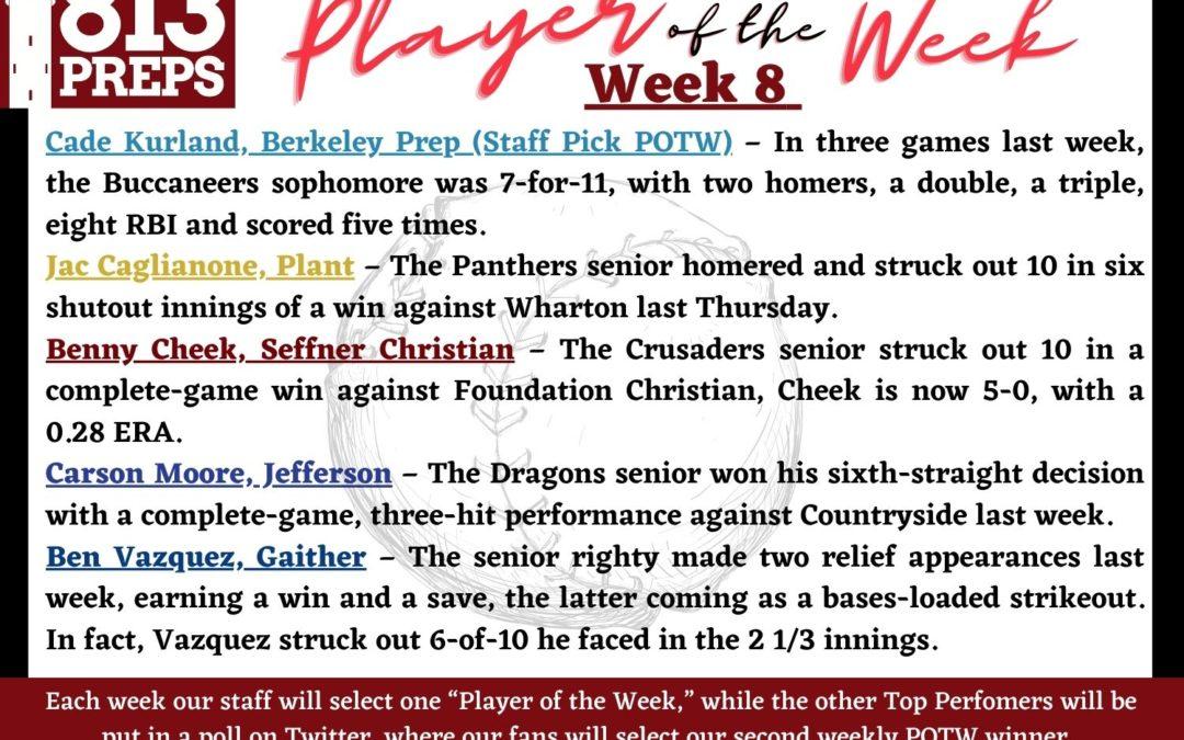 813Preps Player of the Week – Week 8